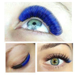 синие ресницы